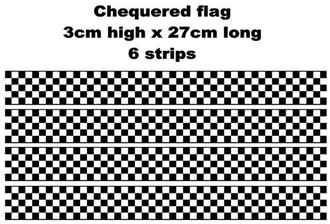 Chequered Flag Design Edible Icing Cake Ribbon