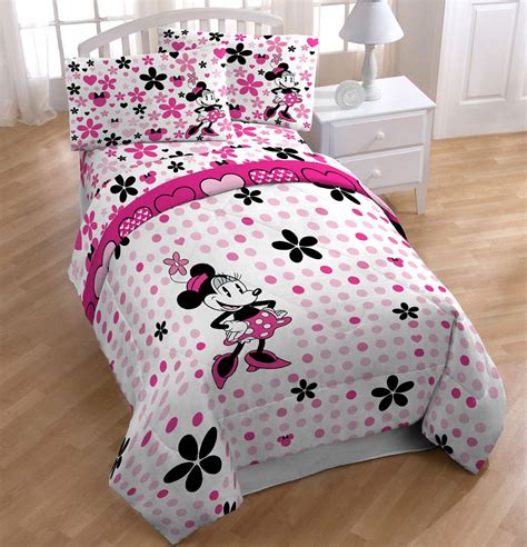 minnie mouse twin bedding set 4pc disney minnie mouse daisy dots twin bedding set