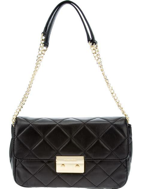 Simple Golden Chain Shoulder Bag Import 1 quilted shoulder bag chain burke leather totes