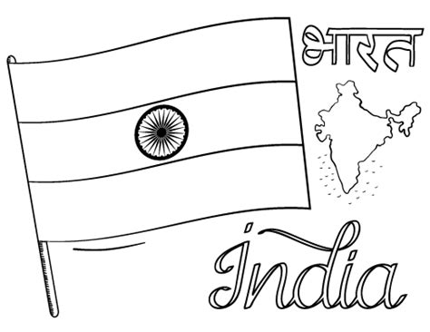 coloring pages for india printable india flag coloring page free pdf download at