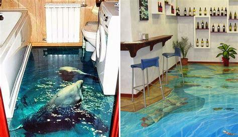piastrelle 3d pavimenti per il bagno incredibili con effetti oceanici in 3d