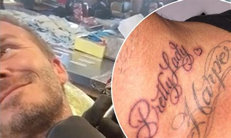 david beckham neck tattoo david beckham unveils brand new neck for