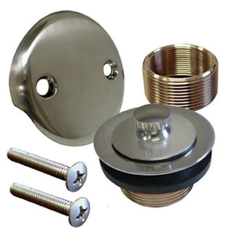 bathtub drain kit brushed nickel conversion kit bathtub tub drain assembly