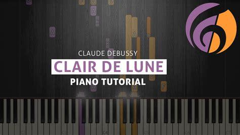 tutorial piano debussy clair de lune easy version piano tutorial sheets