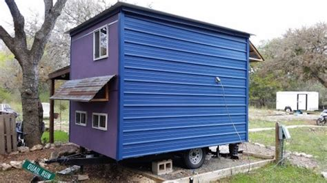 tiny house square feet brightly colored 84 square foot tiny house built on a trailer