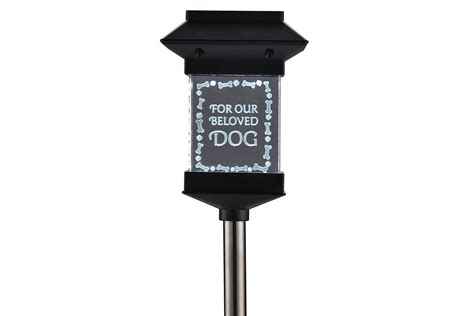 Qudos Marketing S106gl Steel Quot Dog Quot Solar Memorial Light Memorial Solar Lights