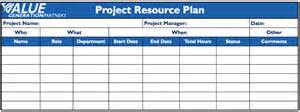 Human Resources Plan Template by Generating Value By Creating A Project Resource Plan
