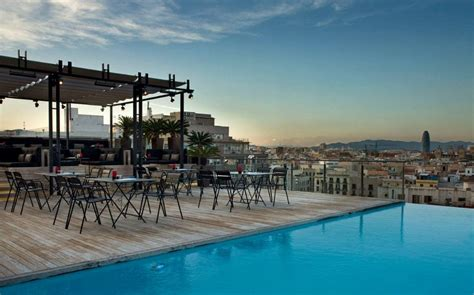 top 10 the best barcelona hotels with rooftop bars
