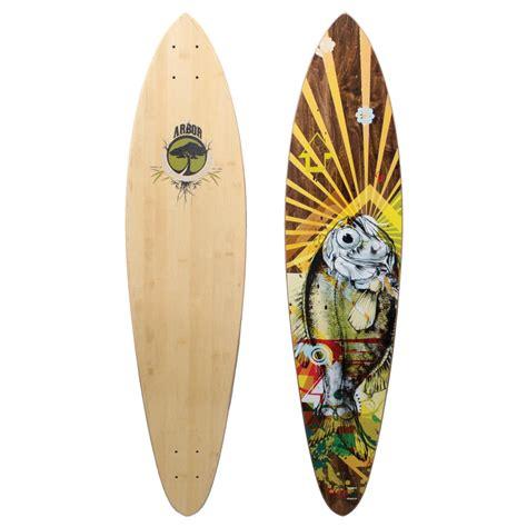 longboards decks arbor fish bamboo longboard deck evo