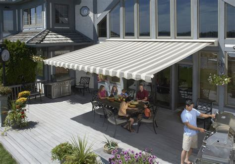 sun awning 20 sunsetter motorized awning package with acrylic fabric