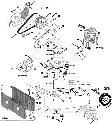 cbell hausfeld vt622701 parts diagram for air compressor parts