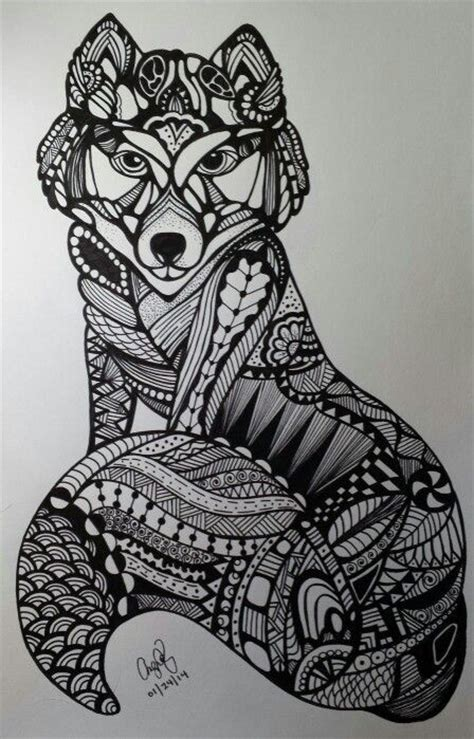 dog pattern drawing zentangles and doodles on pinterest zentangle patterns