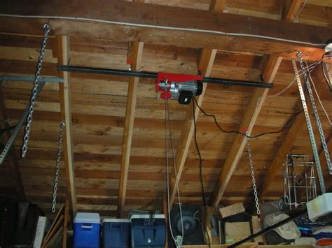 garage lift system pulley home ideas collection create