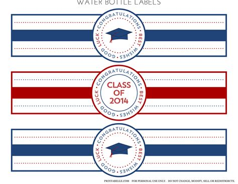 graduation labels template free free 2014 graduation printables from printabelle