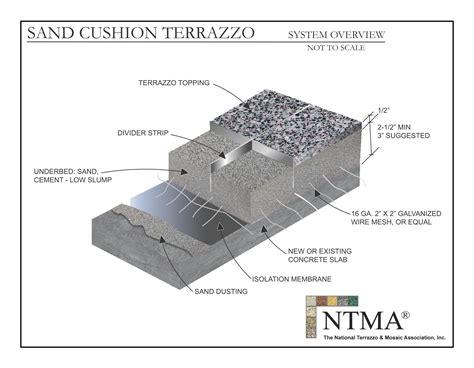 cushion sand sand cushion cement the venice terrazzo company