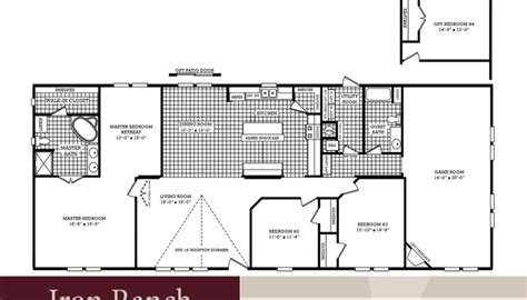 3 bedroom double wide bedroom ranch house floor plans com with 3 country plan