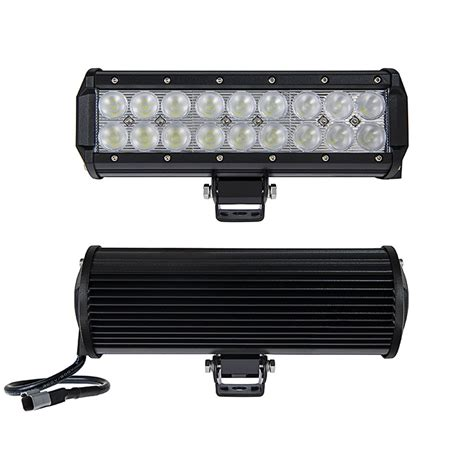 9 Quot Off Road Led Light Bar 54w 3 780 Lumens Led Light Led Light Bars