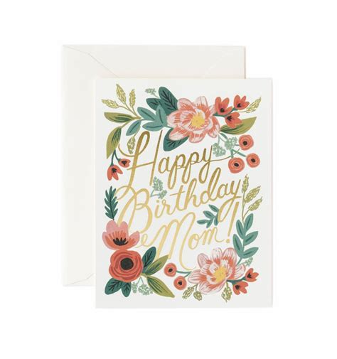 mom cards happy birthday mom greeting card by rifle paper co made