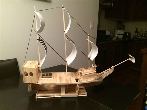 how to build a boat made out of wood angle 2 pirate ship made out of popsicle sticks wooden