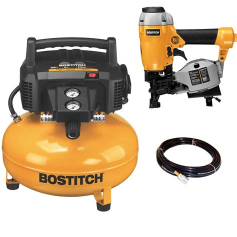 bostitch  gal  psi oil  portable pancake air compressor roofing nailer ebay