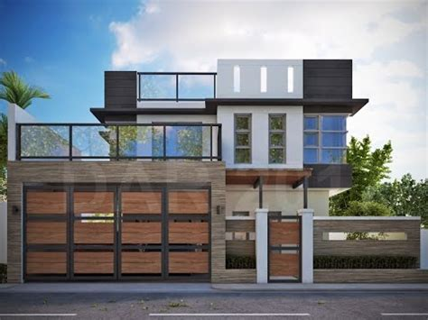 modern two storey house with streamline roof modern 2 storey house with roofdeck youtube