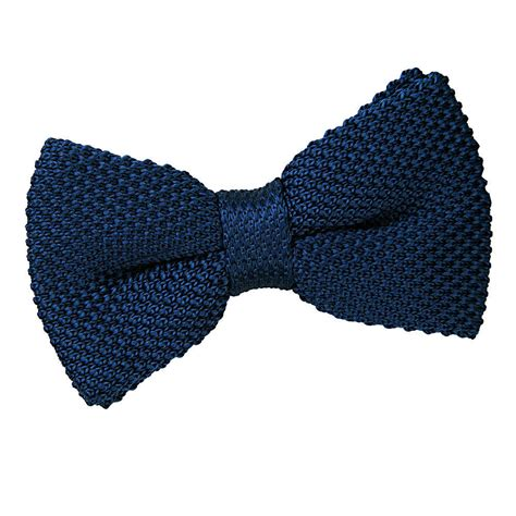 Knit Bow Tie s knitted navy blue bow tie