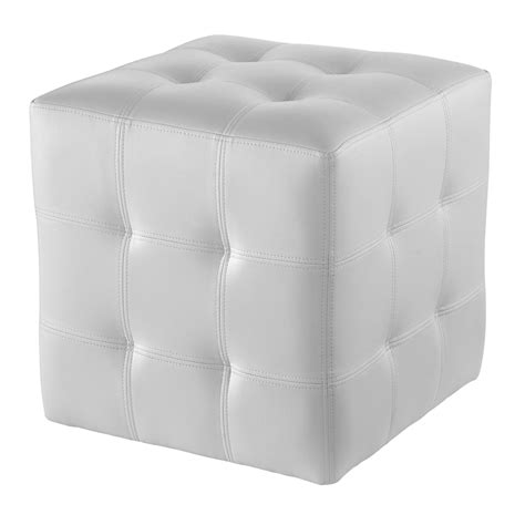 White Leather Cube Ottoman Great Cube Seat Purple Foam White Leather Cube Ottoman