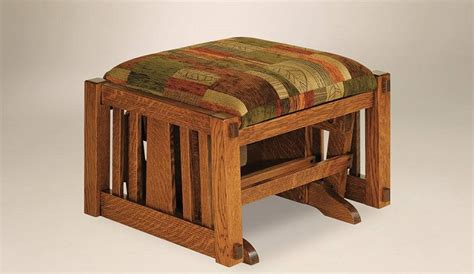Amish Handcrafted Furniture - prop up your on a solid handcrafted ottoman amish