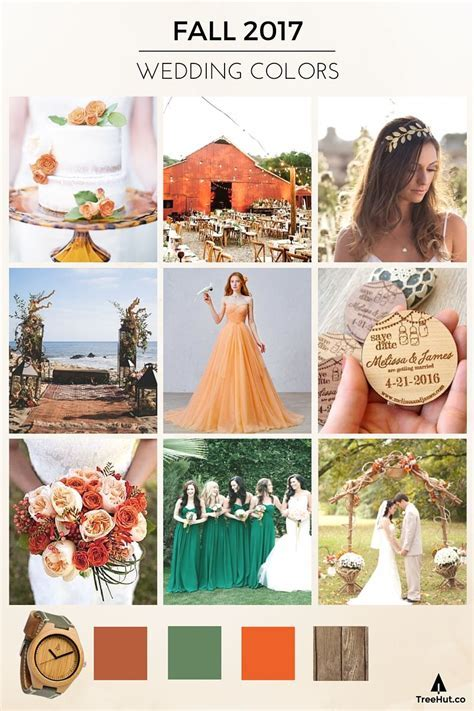 Walk Down the Aisle in 2017's Popular Wedding Colors