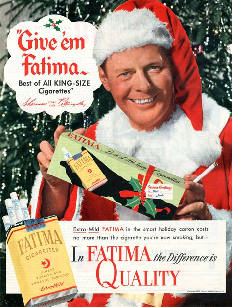 cigarettes from santa vintage tobacco christmas advertising