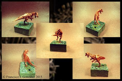 Origami Allosaurus - this week in origami august 14 2015 edition
