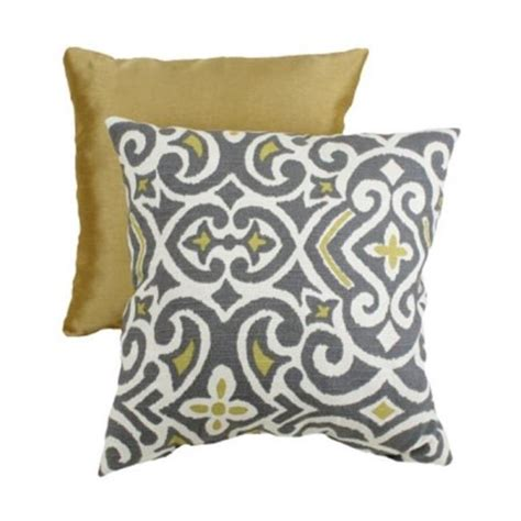 gray yellow pillows pillow decorative gray and yellow damask square