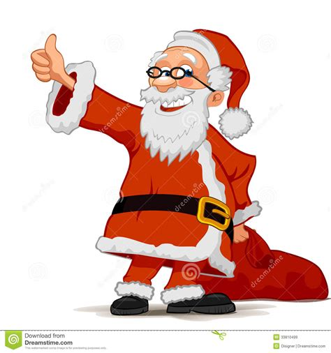 cheerful santa claus isolated on white background stock