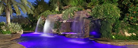pool waterfalls custom swimming pools from ultimate water creations los
