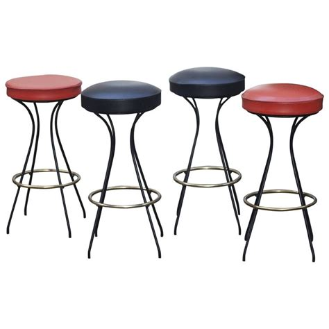 set of four bar stools 1950 for sale at 1stdibs