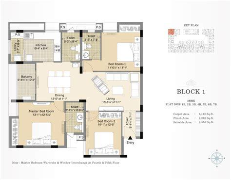3bhk House Plan by 3bhk Floor Plan In 1500 Sq Ft