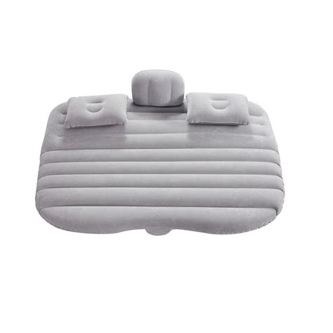 inflatable pillows for beds uk inflatable car air bed mattress for traveling back seat cushion with 2 pillow ebay