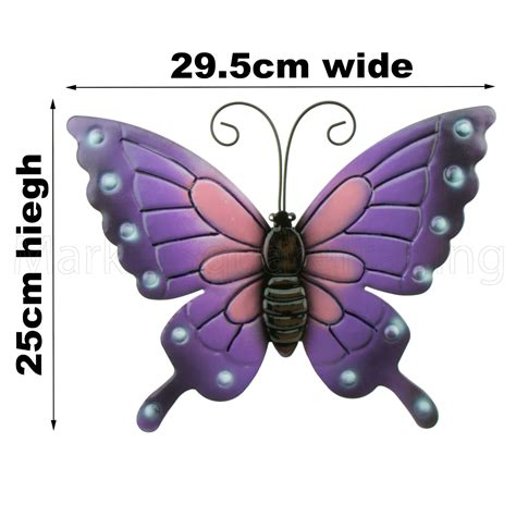 17152 All Butterfly Sml butterflies garden decoration multi coloured metal outdoor butterfly xl wall ebay