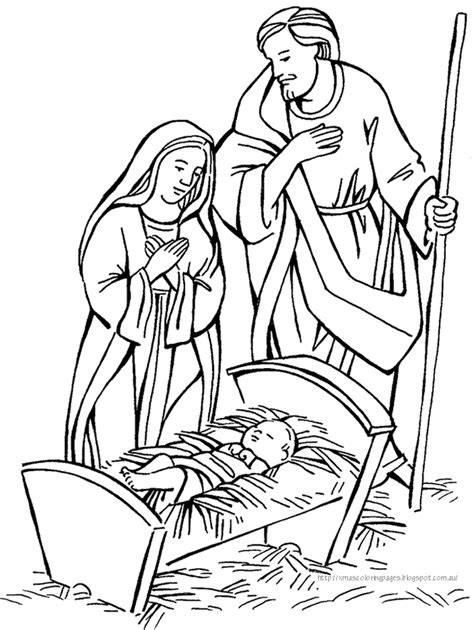 nativity manger coloring page coloring pages christmas nativity coloring home