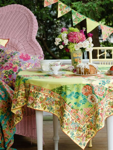 Patchwork Tablecloth - festival patchwork tablecloth linens kitchen