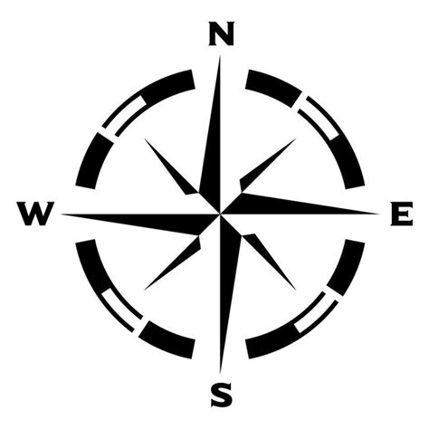 template for a compass rose for wall clipart best