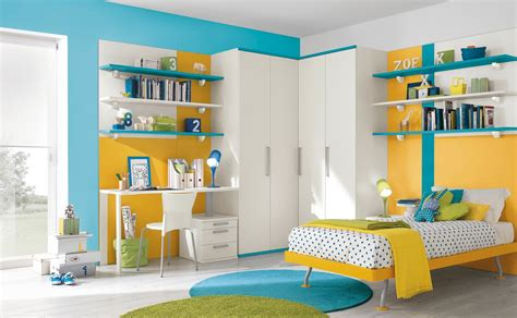 yellow and blue bedroom modern kid s bedroom design ideas
