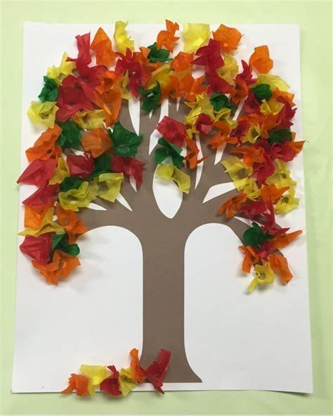 Arts And Crafts With Tissue Paper - best 25 tissue paper trees ideas on tissue