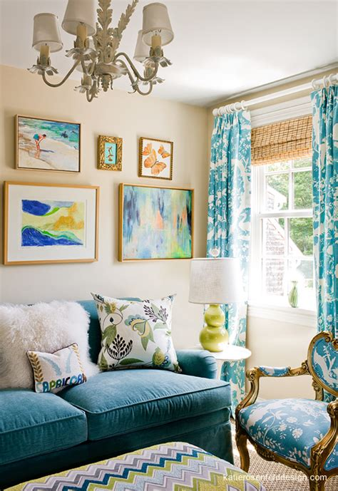 pretty wall color with tan couch f a m i l y r o o m turquoise sofa contemporary living room katie