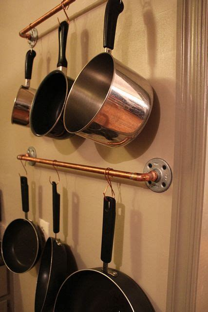 Copper Pot And Pan Rack Inexpensive Pot And Pan Rack Idea For The Home