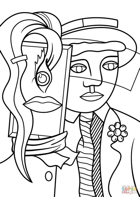 printable pop art coloring pages stepping out by roy lichtenstein coloring page free