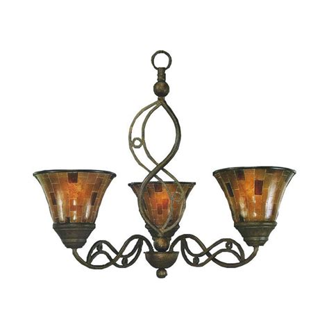 concord l and shade thomas lighting tahoe 3 light painted bronze chandelier