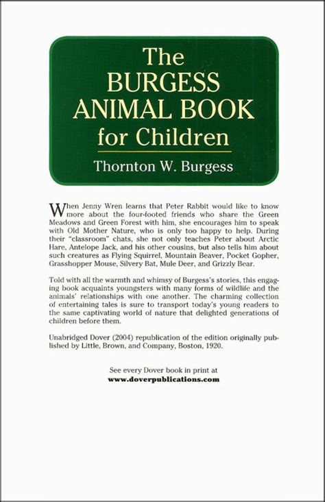 the burgess animal book for children books burgess animal book for children 032286 details
