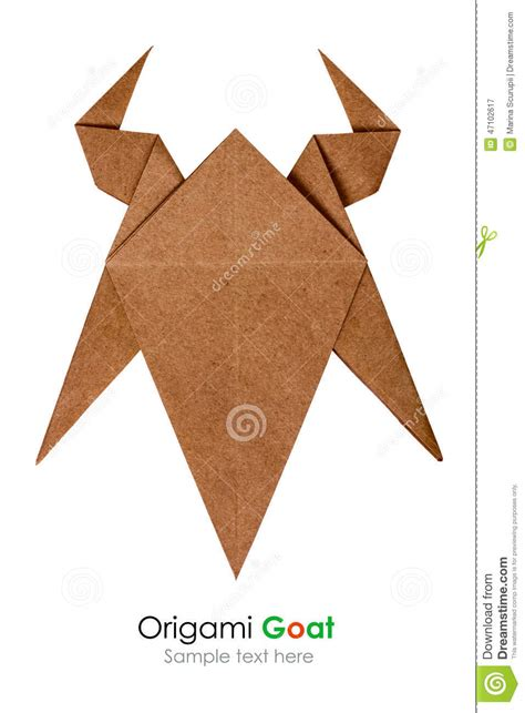 Origami Goat - origami goat stock photo image 47102617