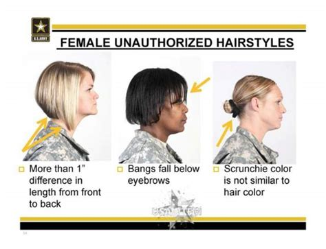 army regulation for female haircuts army unauthorized hairstyles for women i still try to